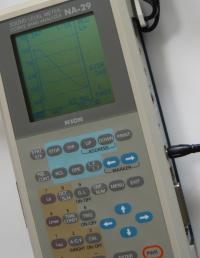 騒音計NA29残響減衰画面